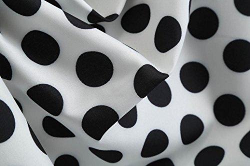 du Mini de Blanc Dessus 3 Mousseline Robe Femmes Au Lache Fte en de Soie Dames Robe Tefamore Mode Dentelle Genou qp1fwRzP