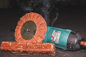 "10"" Diameter Orange Airway Polishing Wheel W/a 5/8"" Arbor Hole For Aluminum Or Stainless Metal Finishing"