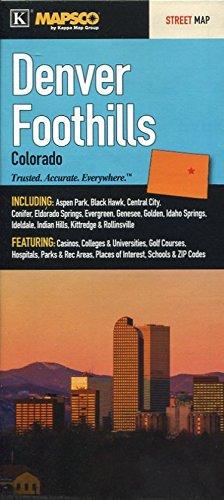 Map Of Denver Foothills Colorado Streets Including Aspen