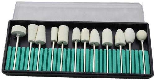 10Pcs Dental Polishing Brush Wool Felt Pad Wheel Grinder Buffing Rotary Tool
