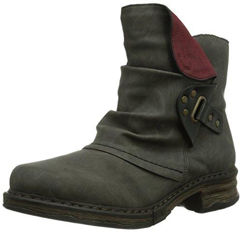 Rieker Z9984-45 - botas de caño bajo de material sintético mujer gris - Grau (fumo/schwarz/wine / 45)
