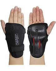 Handgelenkschützer, Skihandschuhe, Verlängerte Handgelenk Palmenschutz, Rollschuhlauf, harte Stulpen, Einstellbare Skateboardstulpen (XL)