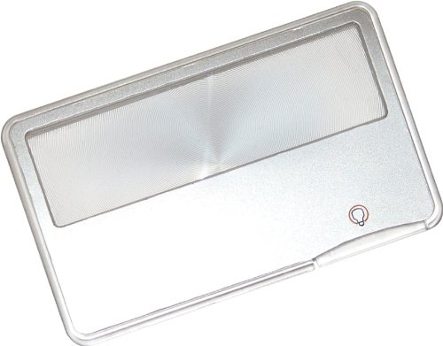 Carson MagniCard 3x LED Lighted Magnifier (MC-99) Lighted Wallet Magnifier