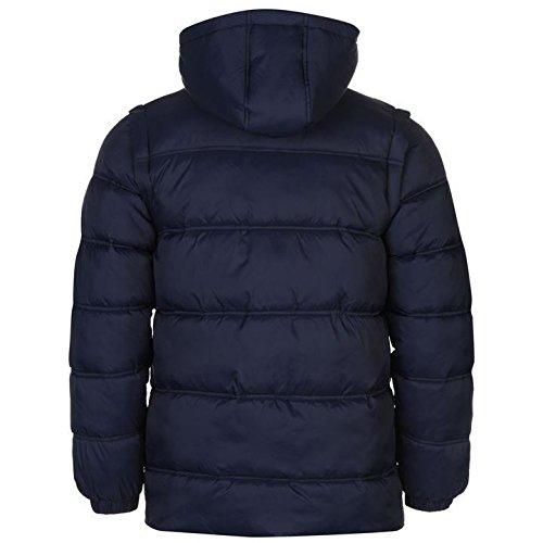 Sondico Veste rembourrée pour homme Bleu marine vestes manteaux Parka Vêtements de sport