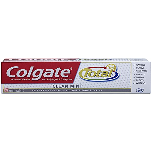 Colgate Total Fluoride Toothpaste, Clean Mint, 7.80 oz (Packs of (Clean Toothpaste)