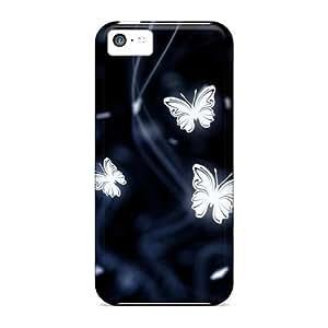 Iphone 5c SCy1456RtuQ Custom Stylish Butterfly Skin High Quality Hard Phone Cases -AaronBlanchette