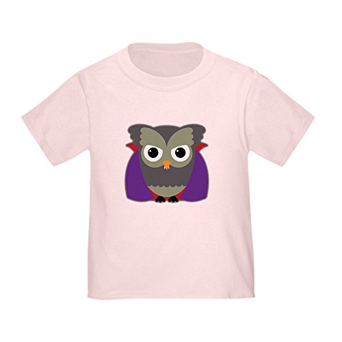 Truly Teague Toddler T-Shirt Spooky Little Owl Vampire Monster - Pink, 2T (24 -