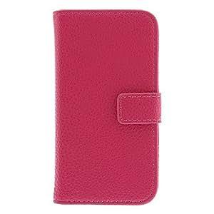 ZXM- Lichee del patrón PU cuero caso completo del cuerpo para Samsung Galaxy S4 Mini I9190 (colores surtidos) , Púrpula