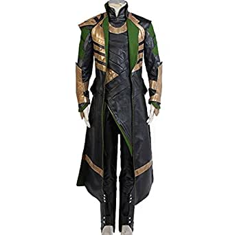 CosplaySky Thor The Dark World Loki Whole Set Cosplay Halloween Costume Large
