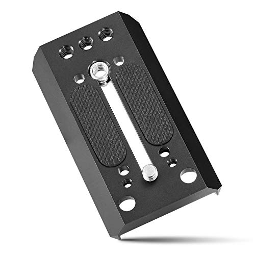 SMALLRIG Quick Dovetail Base Plate for Manfrotto 577/501/ 504/701 Tripod Fluid Head, with 1/4