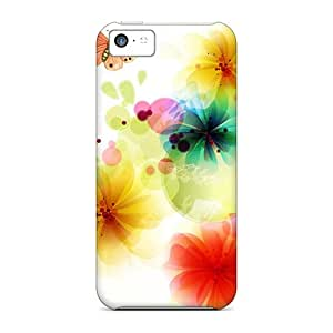 Fashionable Style Cases Covers Skin For Iphone 5c- Exotic Floral Abstract