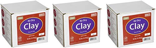 AMACO 4630-3C Air Dry Modeling Clay, 10-Pound, Gray (Pack of 3)