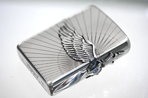 Zippo Dagger Wing 3-sides Metal Oxidized Silver Plating Japan Limited Oil (Dagger Wings)