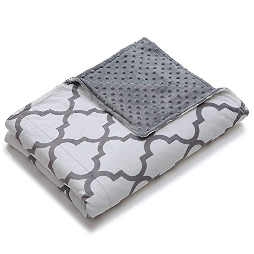"HomeSmart Products Ultra Soft Weighted Blanket Cover with Therapeutic Calming Touch Pattern - Plush Removable Cover, Fits 60""x80"" Weighted Blanket (Duvet Cover only)"