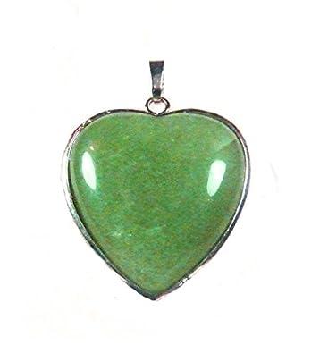 Malabar gems heart shape green aventurine pendant reiki chakra malabar gems heart shape green aventurine pendant reiki chakra healing yoga meditation gift pendant aloadofball Image collections