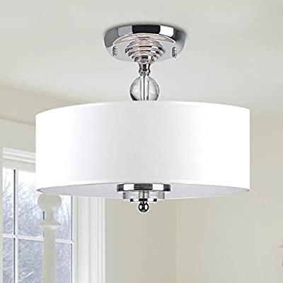 "Saint Mossi Chandelier Modern Chandelier Lighting Flush mount LED Ceiling Light Fixture Pendant Lamp for Dining Room Bathroom Bedroom Livingroom 3E12 Bulbs Required H11.8"" x W15.7"""
