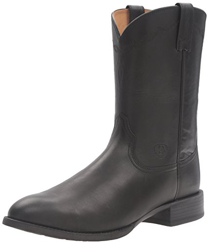 Ariat Men's Heritage Roper Western Cowboy Boot, Black, 10 EE US