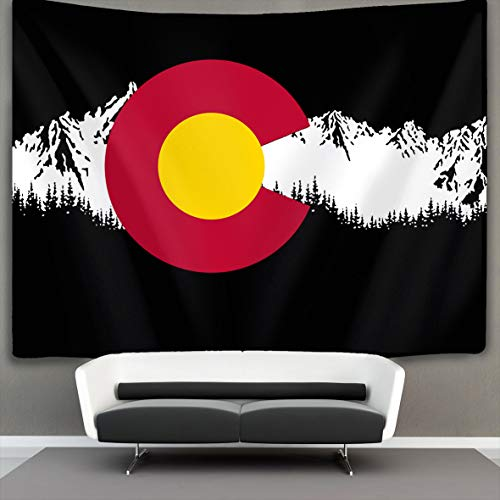 Gifts Lion Gorgeous Mountain (Colorado State Mountain Flag Wall Tapestry Hippie Art Tapestry Wall Hanging Home Decor Extra Large tablecloths 40x60 inches for Bedroom Living Room Dorm Room)