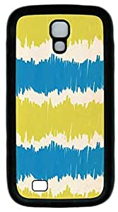 Galaxy S4 Case, Personalized Protective Soft Rubber TPU Black Edge Blue Yellow Paper Case Cover for Samsung Galaxy S4 I9500