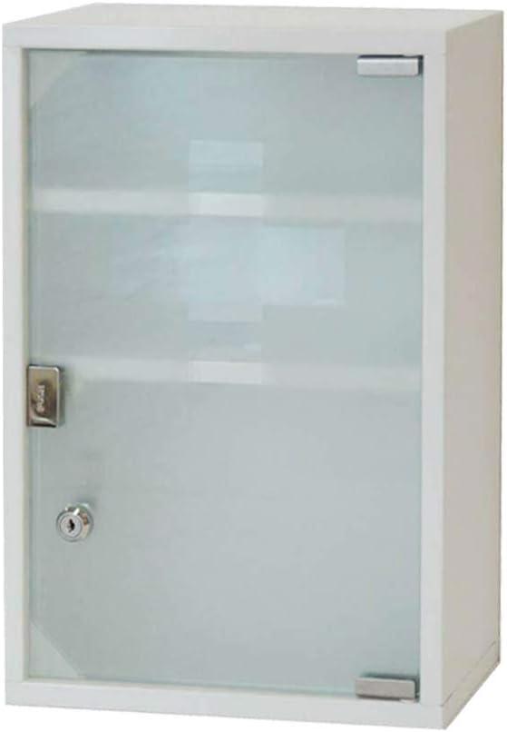 HS-Lighting – Botiquín de primeros auxilios de acero inoxidable, con puerta de cristal y cerradura de 2/3 compartimentos
