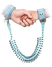Fitfirst Arnés de Seguridad para Niños, Cinturón de Anti-lost Ajustable Suave y Elástica, Correa de Seguridad para Niño de 2m, Azul