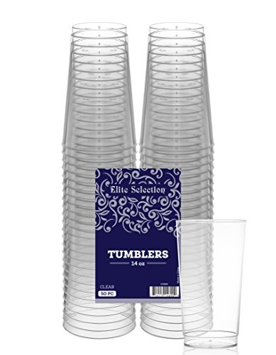 Elite Selection 14 Oz. Pack Of 50 Clear Hard Plastic (14 Oz Cup)