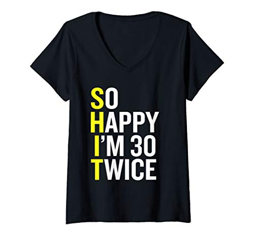 Womens Funny 60th Birthday Gift - 60 Years Old 1959 Present V-Neck T-Shirt (Basic Wardrobe For 60 Year Old Woman)