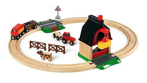 - Brio 33719 Farm Railway Set   Toy Train Set for Kids Age 3 and Up