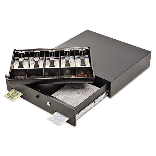 (Alarm Alert Steel Cash Drawer w/key/Push-Button Release Lock, Black, Sold as 1 Each)