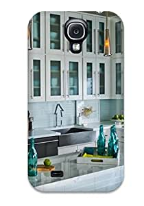 Waterdrop Snap-on White Kitchen With Marble-topped Island Case For Galaxy S4