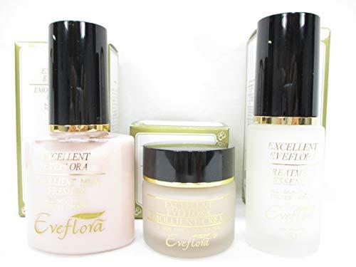 エクセレントイブフローラ化粧品美顔3点セット 美容液+乳液+クリーム3点セット B07FLP1GNP