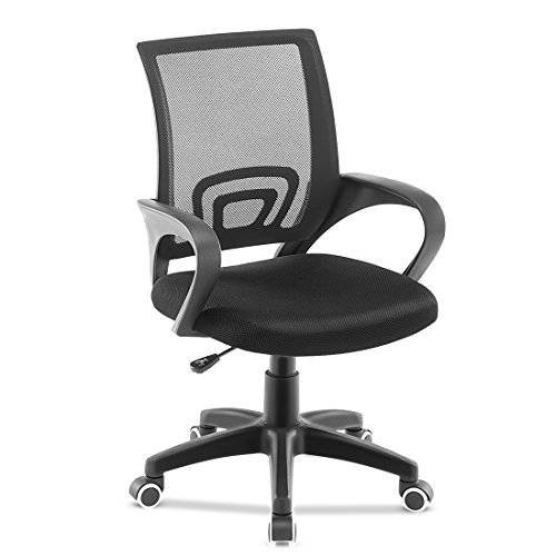 Jl Comfurni Office Chair Adjustable Mesh Swivel Home
