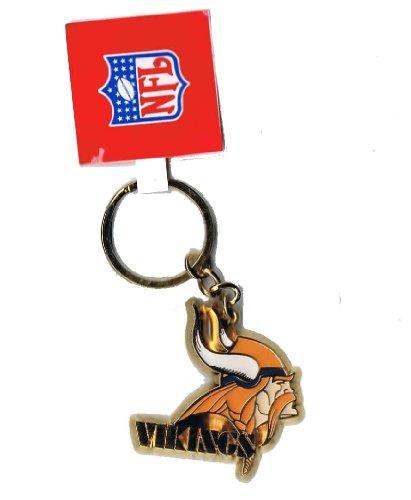 Gold Sculpted Logo Minnesota Vikings Key Chain