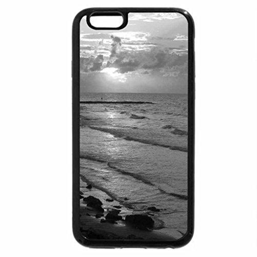 iPhone 6S Case, iPhone 6 Case (Black & White) - Galveston Beach During Sunrise 3