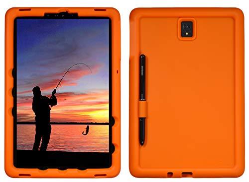 BobjGear Bobj Rugged Tablet Case for Samsung Galaxy Tab S4 10.5 (SM-T830) Kid Friendly (Outrageous Orange)