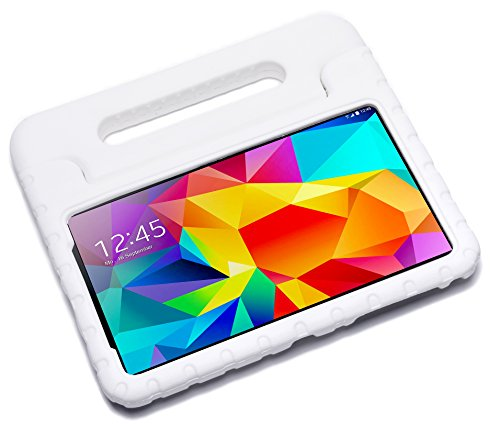 Pwr+ Samsung-Galaxy-TAB-4-8-inch Case-for-Kids Protective-Sleeve-Cover White : Guardian KickStand with Handle for Samsung Galaxy TAB 4 8.0