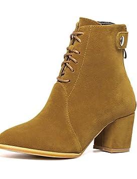 Mujer Botines Zapatos – Botas Mujer – Vestido – Fieltro – Bloque tacón – párrafos/