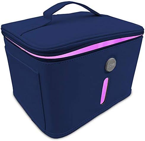 JJ CARE [Upgraded] UV Sterilizer Bag – Portable Light Sanitizer Bag with 9 LED Lights, Sterilization Bag for Baby Items, Remote & More, Phone Sanitizer Bag (Blue)