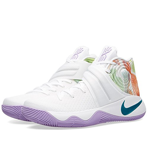 Nike Kyrie 2, Zapatillas de Baloncesto para Hombre Blanco / Azul / Negro (Wht / Hypr Jd-Urbn Llc-Brght Mng)