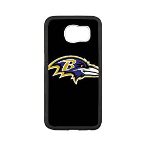 Baltimore Ravens Team Logo Samsung Galaxy S6 Cell Phone Case White 218y3-156125