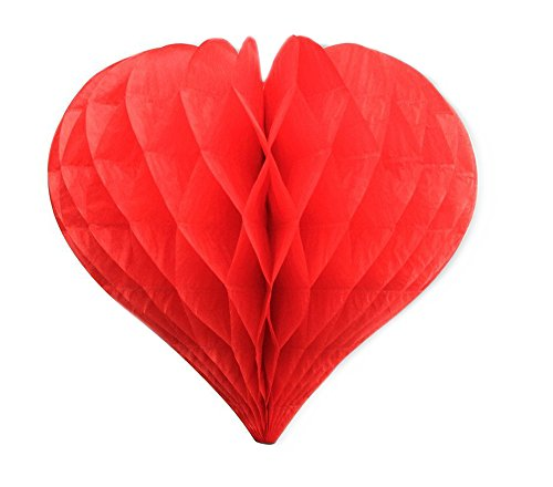 Happy Valentine's Day Heart Honeycomb Decoration-9.45in -