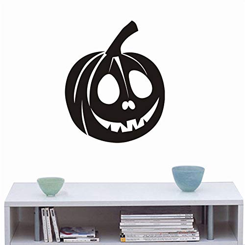 Halloween Wall Stickers Pumpkin,Happy Halloween Background Wall Sticker Window Home Decoration Decal Decor,Halloween Wall Stickers Horror Door Stickers,Halloween Wall Sticker Art (Black)
