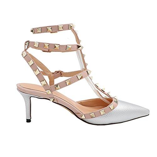 MERUMOTE - Zapatos de vestir para mujer plata