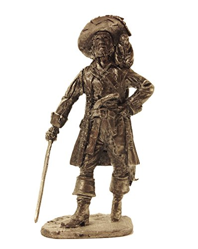 Military-historical miniatures Captain Hector Barbossa Tin Metal 54mm Action Figures Toy Soldiers Size 1/32 Scale for Home Décor Accents Collectible Figurines ITEM #NA4]()