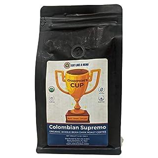 Champion's Cup Organic Coffee (Colombian Supremo Whole Bean 12 OZ)