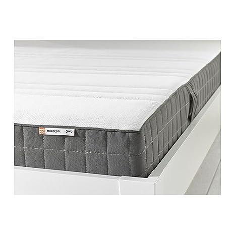 IKEA MORGEDAL - colchón de espuma de memoria, firme mediano, de color gris oscuro: Amazon.es: Hogar