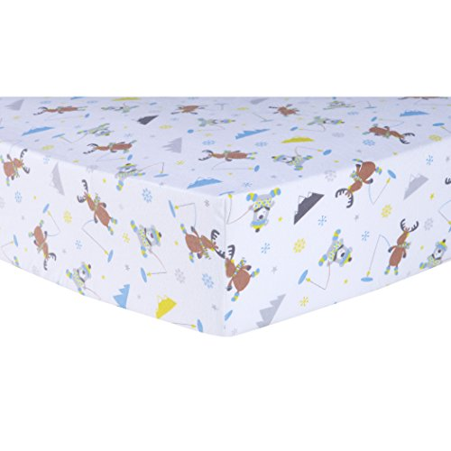 Ice Lab (Trend Lab Gone Ice Fishing Deluxe Flannel Fitted Crib Sheet)