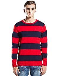 Men's UK Stripe Cotton Crew Neck Knit Sweater