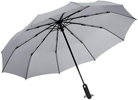 長傘 - メンズ レディース ワンタッチ 丈夫 撥水 耐風 - 高密度ヒット布高強度軽量 大型 95cm 梅雨対策 晴雨兼用 - 永久保証付き (グレー)