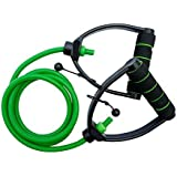 Aurion Adjustable Toning Heavy Fitness Tube Resistance Bands Cord for Exercise Fitness Pilates Strength Training Yoga Physio Cross-fit with Foam Handles - A Complete Home Gym